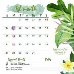 Magnificat Meal Movement Calendar 2019