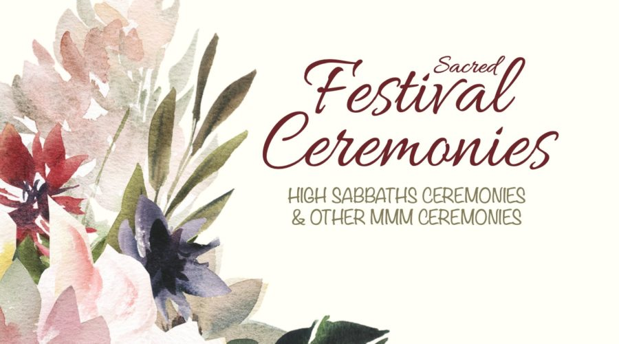 "Happy New Year with new book: ""Sacred Festival Ceremonies"""